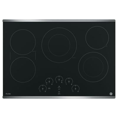 Profile 30 in. Radiant Electric Cooktop in Stainless Steel with 5 Elements including Power Boil