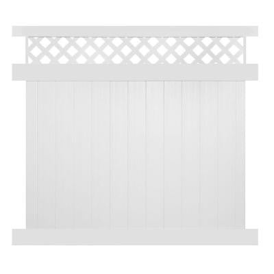 Colfax 6 ft. x 6 ft. White Vinyl Privacy Fence Panel