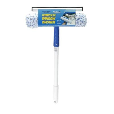 Window Squeegee and Scrubber Combo Complete Washer