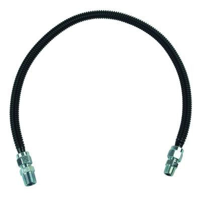 ProCoat 1/2 in. MIP x 3/8 in. MIP x 30 in. Black Coated Stainless Steel Gas Connector 1/2 in. O.D. (77,100 BTU)