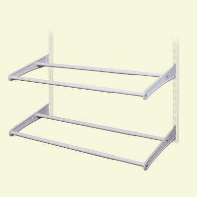 ShelfTrack 24 in.- 42 in. White Expandable Shoe Rack