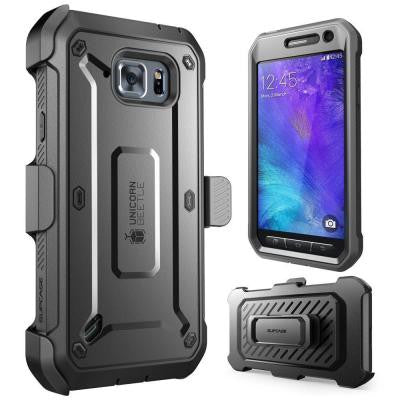 Galaxy S6 Active Unicorn Beetle Pro Full Body Case with Holster - Black