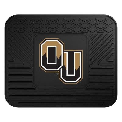 NCAA Oakland University Black Heavy Duty 1-Piece 14 in. x 17 in. Vinyl Utility Mat