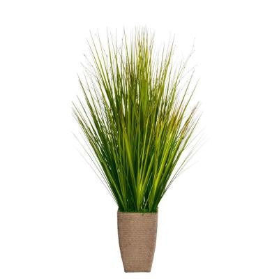 24 in. x 24 in. x 37 in. Tall Onion Grass in Hemp Rope Container