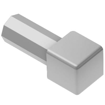Quadec Satin Anodized Aluminum 9/16 in. x 1 in. Metal Inside/Outside Corner