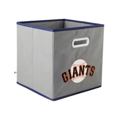 MLB STOREITS San Francisco Giants 10-1/2 in. x 10-1/2 in. x 11 in. Grey Fabric Storage Drawer