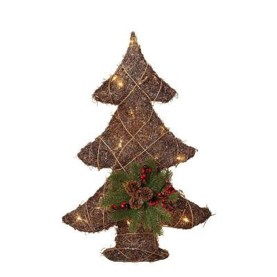 26 in. Battery Operated Holiday Grapevine Tree