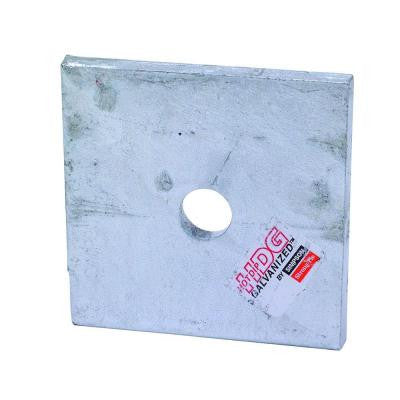 3 in. x 3 in. Hot-Dip Galvanized Bearing Plate with 1/2 in. Dia. Bolt