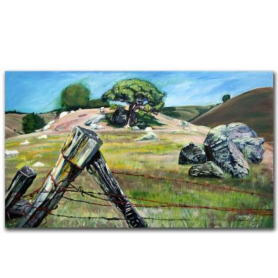"30 in. x 47 in. ""Nicasio Fence Post"" Canvas Art"