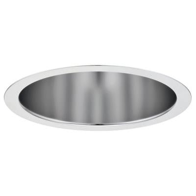 6 in. Recessed 2-Lamp Double Twin-Tube Clear Semi-Specular Open Reflector for Compact Fluorescent Downlight