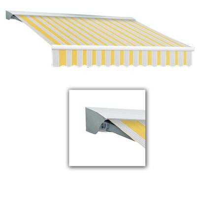 20 ft. LX-Destin with Hood Right Motor/Remote Retractable Acrylic Awning (120 in. Projection) in Yellow/Gray/Terra