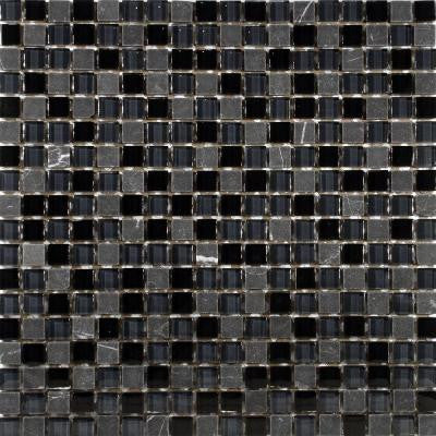 Tessera Mini Bizancio 11-3/4 in. x 11-3/4 in. x 8 mm Glass and Stone Mosaic Wall Tile