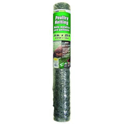 1 in. x 2 ft. x 25 ft. 20-Gauge Poultry Netting