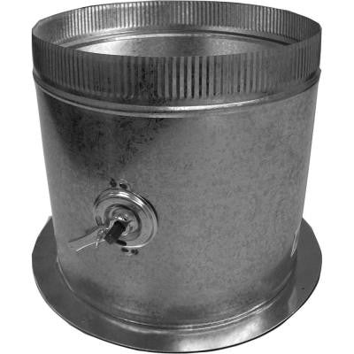 16 in. Dia Galvanized Take Off Start Collar and Gasket with Damper