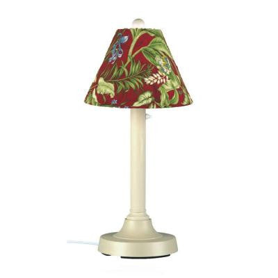 San Juan 30 in. Outdoor Bisque Lamp with Lacquer Shade