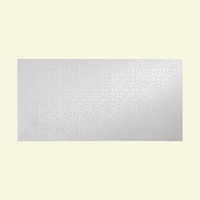 96 in. x 48 in. Traditional 1 Decorative Wall Panel in Gloss White