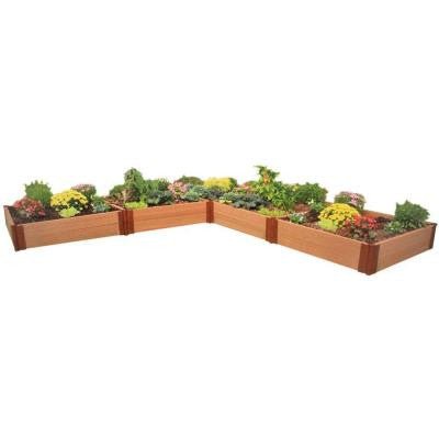 Two Inch Series 12 ft. x 12 ft. x 11 in. Composite L Shaped Raised Garden Bed Kit
