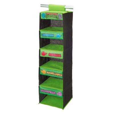 Teenage Mutant Ninja Turtles 5-Shelf Polypropylene Wardrobe Organizer in Retro