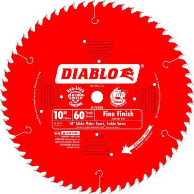 10 in. x 60-Tooth Fine Finish Slide Miter Saw Blade