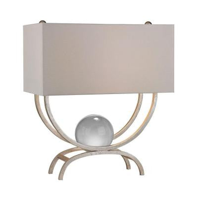 Chelsea 20 in. Silver Leaf Table Lamp with Shade
