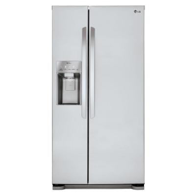33 in. W 22 cu. ft. Side-by-Side Refrigerator in Stainless Steel