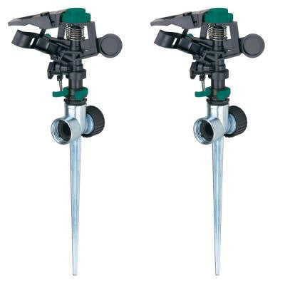 Pulsator Sprinkler with Zinc 2-Way Spikes (2-Pack)