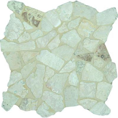 Roman Beige Stone Pebble 12 in. x 12 in. x 10 mm Marble Mesh-Mounted Mosaic Tile (5 sq. ft. / case)