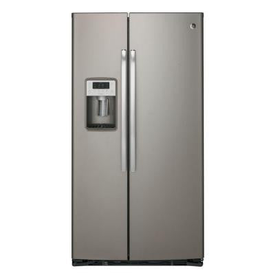 Profile 22.1 cu. ft. Side by Side Refrigerator in Slate, Counter Depth