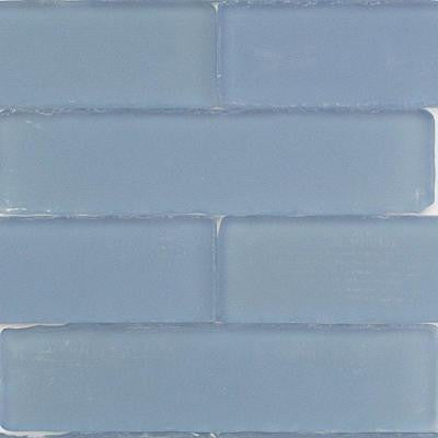 Ocean Cloud Beached 9 Loose Pieces 2 in. x 8 in. x 8 mm Frosted Glass Mosaic Tile