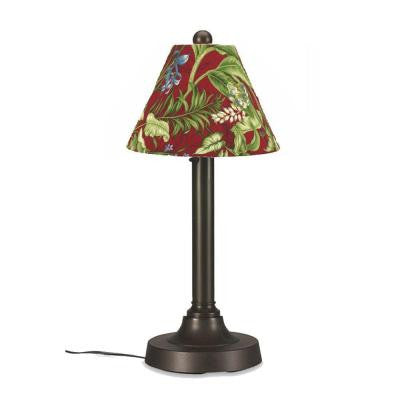 San Juan 30 in. Outdoor Bronze Table Lamp with Lacquer Shade