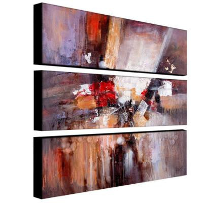 10 in. x 32 in. Cube Abstract II 3-Piece Canvas Art Set