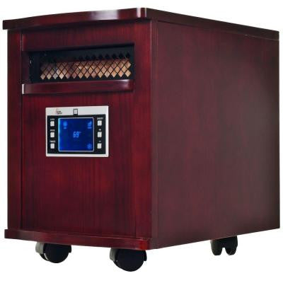 1500-Watt 18 in. Infrared Radiant Electric Portable Heater with Digital Readout