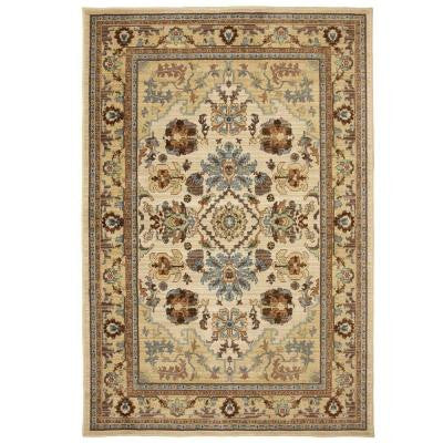 Charisma Butter Pecan 3 ft. 4 in. x 5 ft. Area Rug