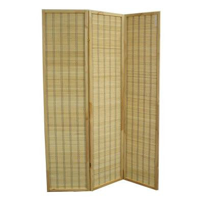 70.25 in. x 17.1 in. 3 Panel Serenity Bamboo Room Divider