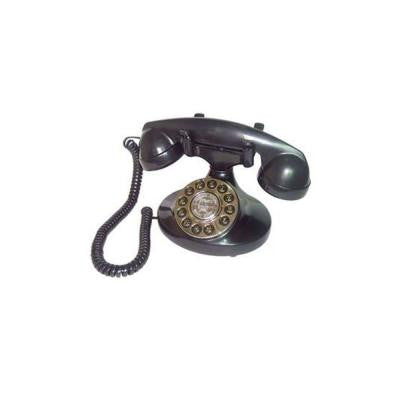 Corded 1922 Alexis Replication Phone with Faux Rotary Dial - Black
