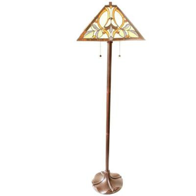Floral Mission 60 in. Bronze Table and Floor Lamp Set