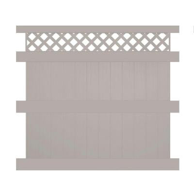 Colfax 8 ft. x 8 ft. Tan Vinyl Privacy Fence Panel