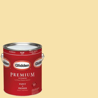 1-gal. #HDGY33U French Lemon Flat Latex Interior Paint with Primer