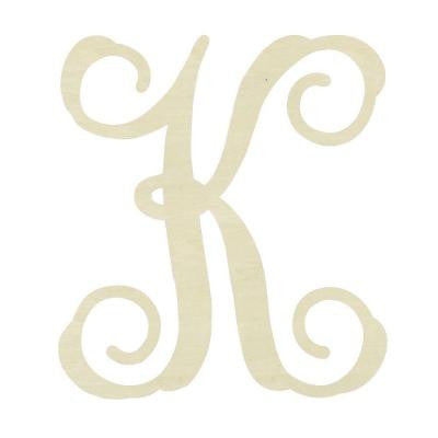 19.5 in. Unfinished Single Vine Monogram (K)