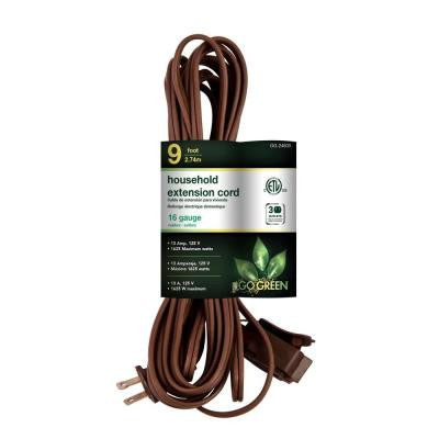 9 ft. 16/2 SPT-2 Household Extension Cord - Brown