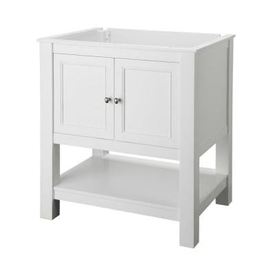 Gazette 30 in. Vanity Cabinet Only in White