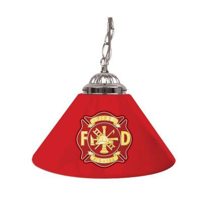 Fire Fighter 14 in. Single Shade Hanging Lamp
