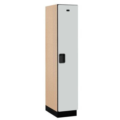 21000 Series 1-Tier Wood Extra Wide Designer Locker in Gray - 15 in. W x 76 in. H x 21 in. D