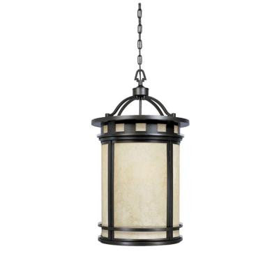 Mesa Collection 3-Light Oil Rubbed Bronze Outdoor Hanging Foyer Light