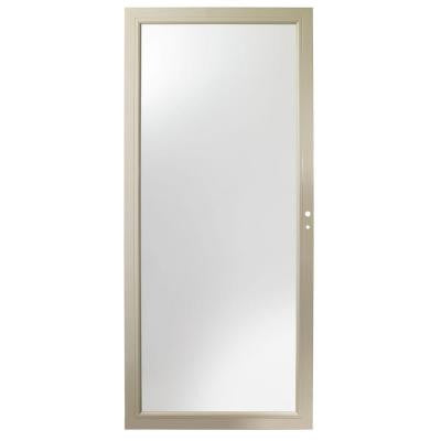 36 in. x 80 in. 3000 Series Sandtone Full View Easy Install Storm Door