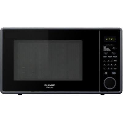 1.1 cu. ft. Countertop Microwave in Smooth Black