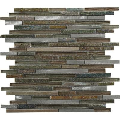 Paradise Eden 12 in. x 12 in. x 8 mm Glass Mosaic Tile