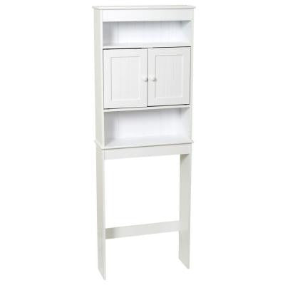23.25 in. Country Cottage Space Saver with 3 Shelves in White