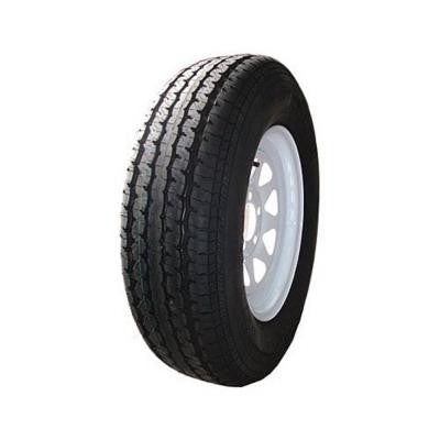 8 Spoke White 50 PSI ST205/75R14 and 14 in. x 6.0 in. 5-4.5HD 6-Ply Tire and Wheel Assembly