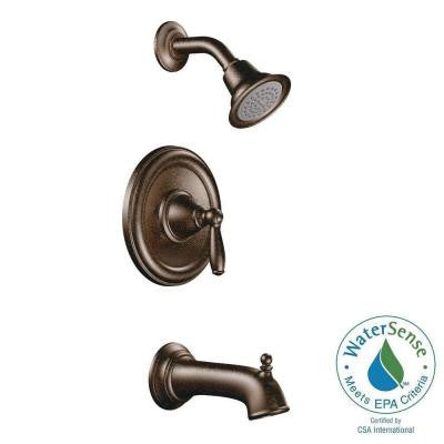 Brantford 1-Handle Posi-Temp Tub and Shower Faucet Trim Kit in Oil Rubbed Bronze (Valve Sold Separately)